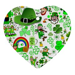 St Patrick s Day Collage Heart Ornament (two Sides) by StuffOrSomething