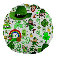 St Patrick s Day Collage 18  Premium Round Cushion  by StuffOrSomething