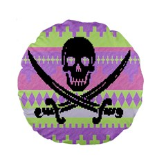 Ugly Pirate Sweater 15  Premium Round Cushion  by Contest1657721