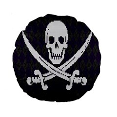 Jolly Roger Sweater 15  Premium Round Cushion