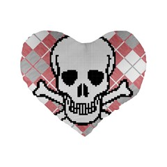 Ugly Skull Sweater 16  Premium Heart Shape Cushion  by Contest1657721