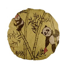 Innocent Panda 15  Premium Round Cushion
