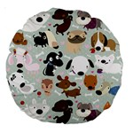Dog Pattern 18  Premium Round Cushion  Back