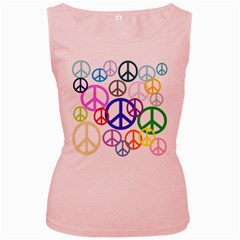 Peace Sign Collage Png Women s Tank Top (pink) by StuffOrSomething