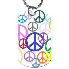 Peace Sign Collage Png Dog Tag (one Sided)