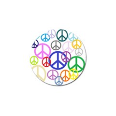 Peace Sign Collage Png Golf Ball Marker 4 Pack