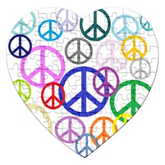 Peace Sign Collage Png Jigsaw Puzzle (heart) by StuffOrSomething