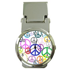 Peace Sign Collage Png Money Clip With Watch