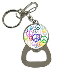 Peace Sign Collage Png Bottle Opener Key Chain by StuffOrSomething