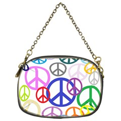 Peace Sign Collage Png Chain Purse (one Side)