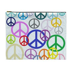 Peace Sign Collage Png Cosmetic Bag (xl)