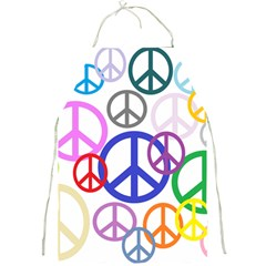 Peace Sign Collage Png Apron by StuffOrSomething