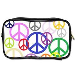 Peace Sign Collage Png Travel Toiletry Bag (two Sides)