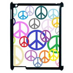 Peace Sign Collage Png Apple Ipad 2 Case (black) by StuffOrSomething