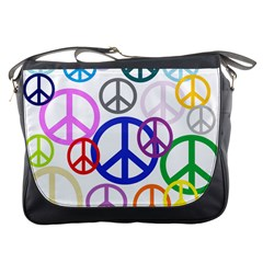 Peace Sign Collage Png Messenger Bag by StuffOrSomething