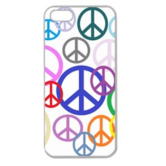 Peace Sign Collage Png Apple Seamless Iphone 5 Case (clear)