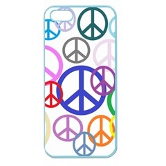 Peace Sign Collage Png Apple Seamless Iphone 5 Case (color)