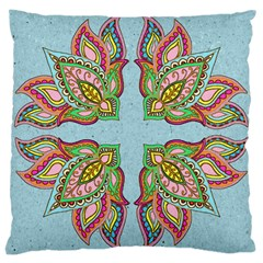 Flowers Large Cushion Case (two Sided)