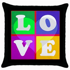 White Black Throw Pillow Case by Contest1721342