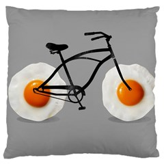 Egg Bike Large Cushion Case (single Sided)