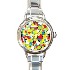 Interlocking Circles Round Italian Charm Watch by StuffOrSomething