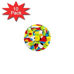 Interlocking Circles 1  Mini Button Magnet (10 Pack)