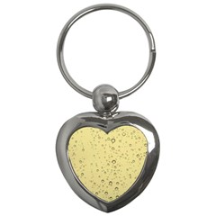 Yellow Water Droplets Key Chain (heart)