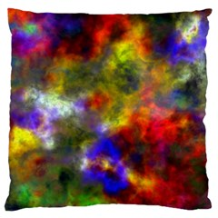 Deep Watercolors Large Cushion Case (two Sided)  by Colorfulart23