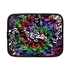 Urock Musicians Twisted Rainbow Notes  Netbook Sleeve (small) by UROCKtheWorldDesign