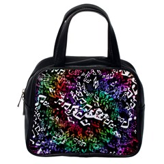 Urock Musicians Twisted Rainbow Notes  Classic Handbag (one Side)