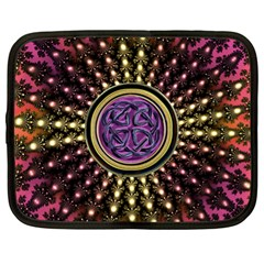 Hot Radiant Fractal Celtic Knot Netbook Case (xl) by UROCKtheWorldDesign