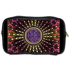 Hot Radiant Fractal Celtic Knot Toiletries Bag (two Sides)