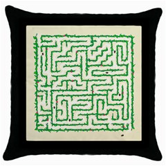 A Maze    Black Throw Pillow Case by Contest1729022