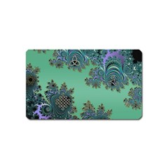 Celtic Symbolic Fractal Design In Green Magnet (name Card)