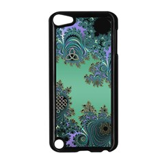 Celtic Symbolic Fractal Design In Green Apple Ipod Touch 5 Case (black) by UROCKtheWorldDesign