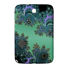 Celtic Symbolic Fractal Design In Green Samsung Galaxy Note 8 0 N5100 Hardshell Case  by UROCKtheWorldDesign
