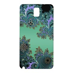Celtic Symbolic Fractal Design In Green Samsung Galaxy Note 3 Hardshell Back Case by UROCKtheWorldDesign