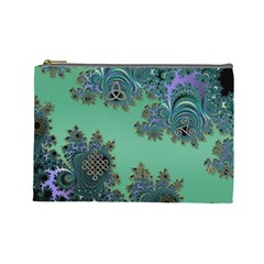 Celtic Symbolic Fractal Cosmetic Bag (large) by UROCKtheWorldDesign