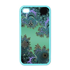 Celtic Symbolic Fractal Apple Iphone 4 Case (color) by UROCKtheWorldDesign