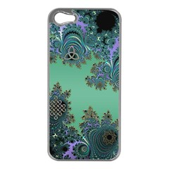 Celtic Symbolic Fractal Apple Iphone 5 Case (silver) by UROCKtheWorldDesign