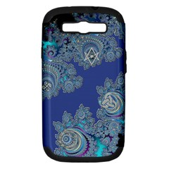Blue Metallic Celtic Fractal Samsung Galaxy S Iii Hardshell Case (pc+silicone) by UROCKtheWorldDesign