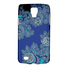 Blue Metallic Celtic Fractal Samsung Galaxy S4 Active (i9295) Hardshell Case