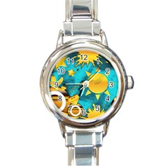 Musical Peace Round Italian Charm Watch by StuffOrSomething