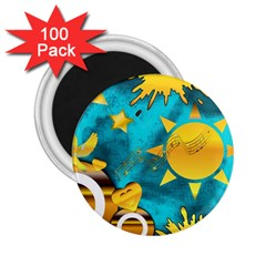 Musical Peace 2 25  Button Magnet (100 Pack)
