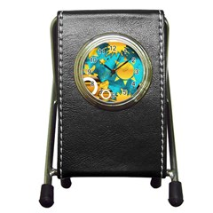 Musical Peace Stationery Holder Clock