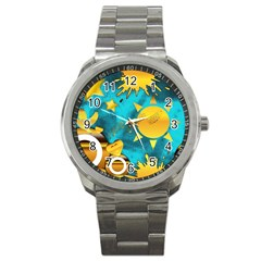Musical Peace Sport Metal Watch by StuffOrSomething