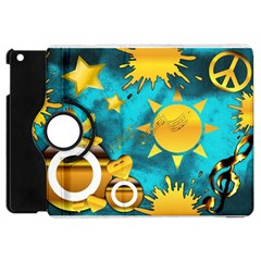 Musical Peace Apple Ipad Mini Flip 360 Case