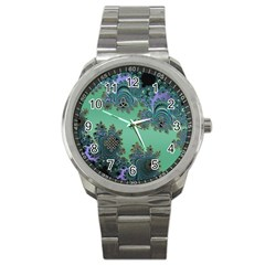 Celtic Symbolic Fractal Sport Metal Watch by UROCKtheWorldDesign