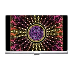 Hot Lavender Celtic Fractal Framed Mandala Business Card Holder