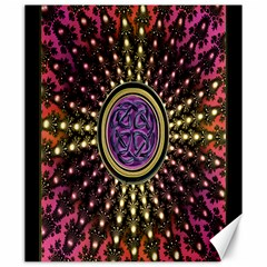 Hot Lavender Celtic Fractal Framed Mandala Canvas 20  X 24  (unframed)